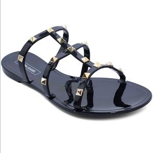Shoes - NEW Black Sandals with Gold Studs!